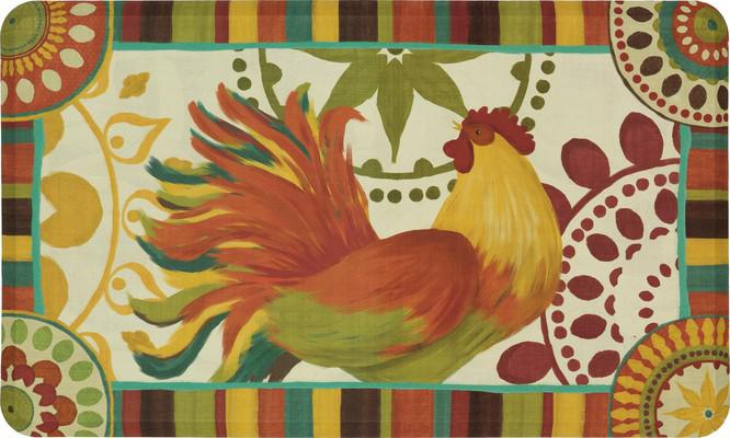 Mohawk Dri- Pro Comfort Mat Painted Spice Rooster Orange/Rust