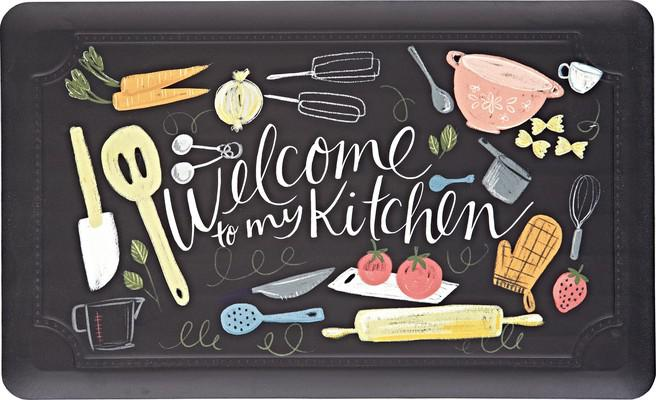 Mohawk Dri- Pro Comfort Mat Scattered Kitchen Black