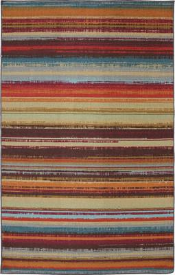 Mohawk Printed Indoor/Outdoor Avenue Stripe Multi