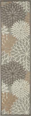 Nourison Aloha ALH05 Gray/Silver