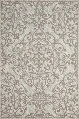 Nourison Damask DAS01 Gray/Silver