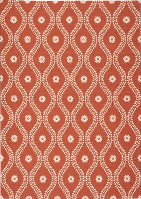 Nourison Home & Garden RS085 Orange/Rust