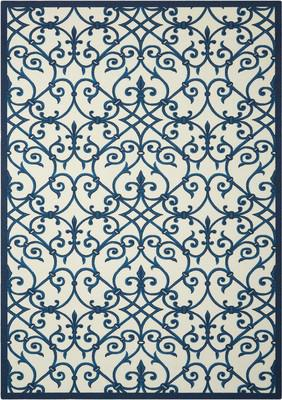 Nourison Home & Garden RS093 Blue/Navy