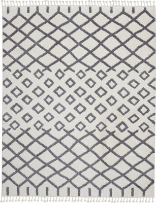 Nourison Moroccan Shag MRS01 White/Ivory