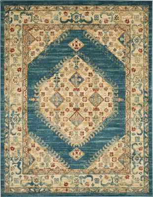 Nourison Traditional Antique TRQ03 Blue/Navy