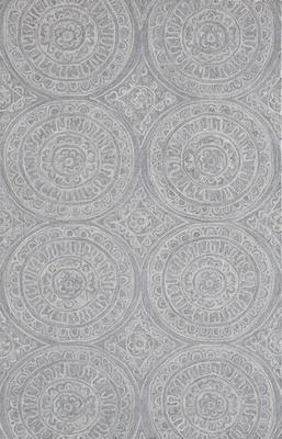 Dynamic Galleria 7866 Gray/Silver Rectangle 9X13
