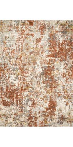 Loloi Landscape LAN-03 Orange/Rust Rectangle 5X8
