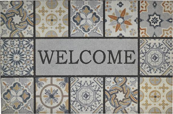 Mohawk Doorscapes Estate Mat Welcome Patina Tiles