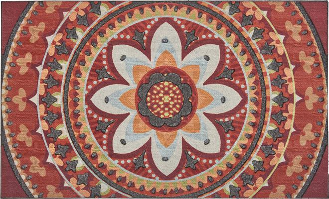 Mohawk Doorscapes Mat Ancestry Medallion Spice World