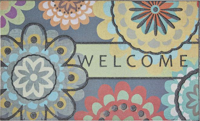 Mohawk Doorscapes Mat Welcome Creative Dahlia