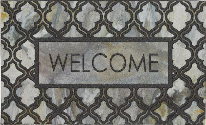 Mohawk Doorscapes Mat Welcome Greystone Inlay