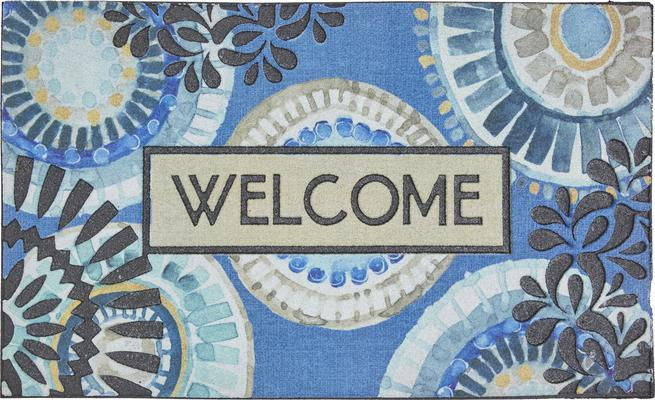 Mohawk Doorscapes Mat Welcome Indigold Lace