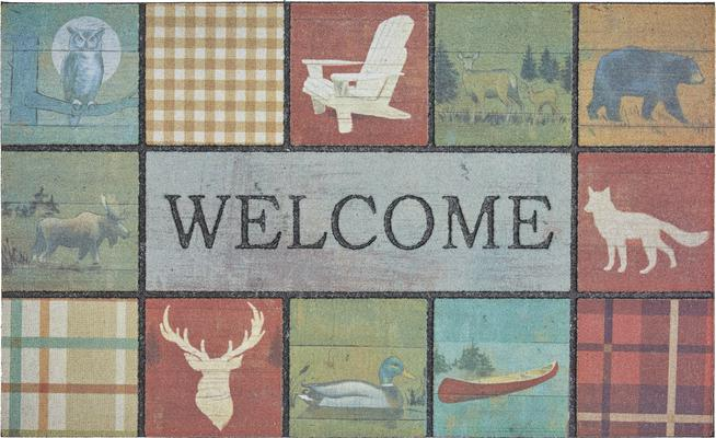 Mohawk Doorscapes Mat Welcome Lodge Tiles