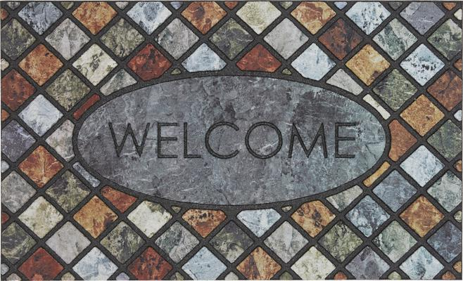Mohawk Doorscapes Mat Welcome Mineral Stone