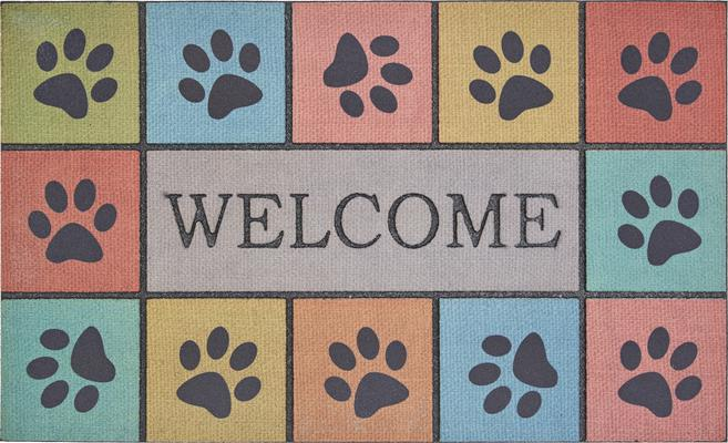 Mohawk Doorscapes Mat Welcome Paw Blocks Tiles