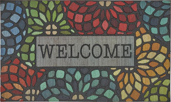 Mohawk Doorscapes Mat Welcome Stained Glass Floret