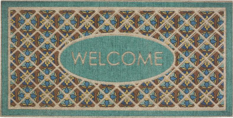 Mohawk Ornamental Entry Mat Retro Tiles