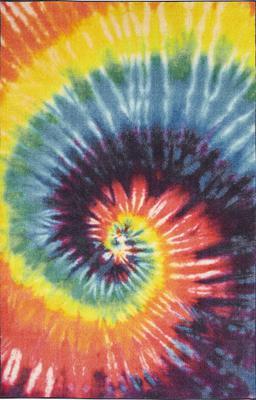 Mohawk Prismatic Tie Dye Swirl