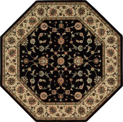 Nourison Persian Arts BD04 Black Octagon 5' Octagon