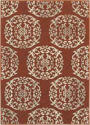 Oriental Weavers Highlands 6672B Orange/Rust